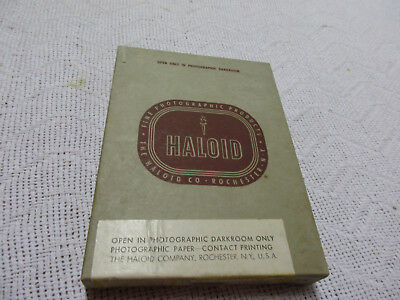 Vintage Haloid AF30 5x7 Contact Photo Glossy Paper 100 Sheets Exp 1960 Sealed