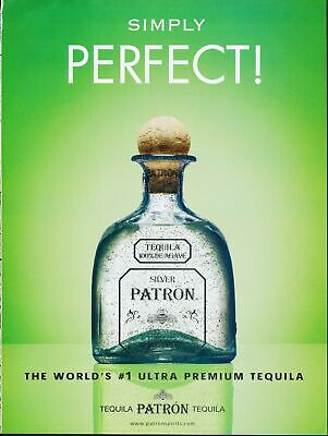 Print Ad~2004~Silver Patron~Tequila~Green Background~G600