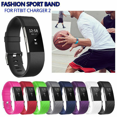 10PCS Replacement Wristband For Fitbit Charge 2 Band Silicone Fitness Small/Larg