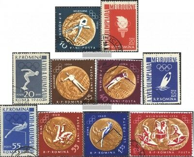 Romania 2010A-2019A (complete issue) used 1961 olympic. Summer