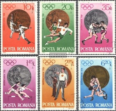 Romania 3060-3065 (complete issue) used 1972 20. olympic. Summe