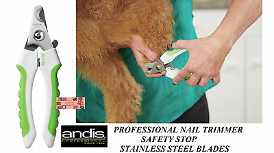 Andis Ergonomic Safety NAIL CLIPPER Claw Trimmer Scissor STAINLESS STEEL Blades