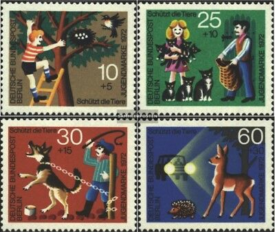 Berlin (West) 418-421 (complete issue) FDC 1972 Youth brands