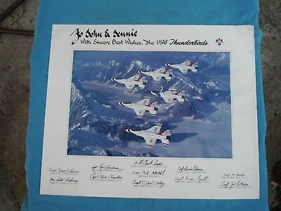 US Air Force Thunderbirds, 1991 autographed photo