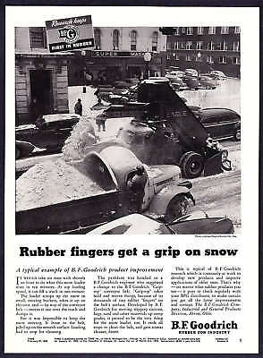 1950 City Street Snow Loader photo B.F. Goodrich Co. Ad