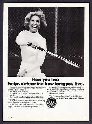 1982 Dinah Shore photo President's Fitness Council Ad
