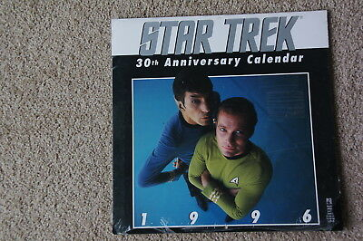 Calendar Star Trek 1996 New Unused unopened 30th Aniversary