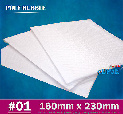 Top Quality Poly Bubble Mailer #01 160x230mm Plastic Padded Bag Envelope