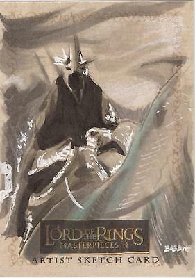 """Lord of the Rings Masterpieces II - Kyle Babbitt """"Witch King"""" Sketch Card"""