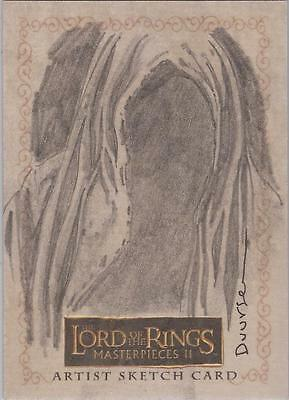 """Lord of the Rings Masterpieces II - Jan Duursema """"Nazgul"""" Sketch Card"""