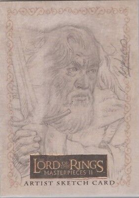 """Lord of the Rings Masterpieces II - Ray Lago """"Gandalf"""" Sketch Card"""