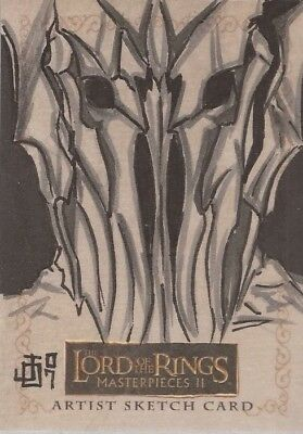 """Lord of the Rings Masterpieces II - Jon Ocampo """"Sauron"""" Sketch Card"""