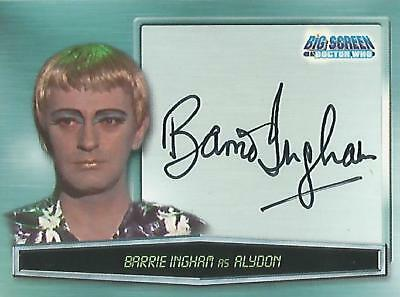 """Doctor Who Big Screen - A9 Barrie Ingham """"Alydon"""" Autograph Card"""