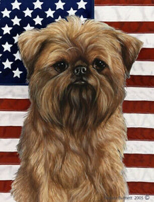 Large Indoor/Outdoor Patriotic II Flag - Brussels Griffon 32128