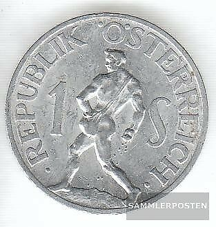 Austria km-number. : 2871 1957 extremely fine Aluminum extremely fine 1957 1 Sch