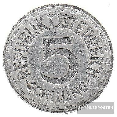 Austria km-number. : 2879 1952 extremely fine Aluminum extremely fine 1952 5 Sch