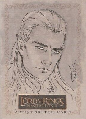 """Lord of the Rings Masterpieces II - Tess Fowler """"Celeborn"""" Sketch Card"""