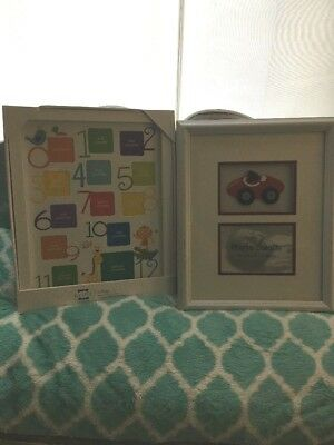Prinz Baby First 12 Months Picture Frame Wooden lot boy Grow by the month car