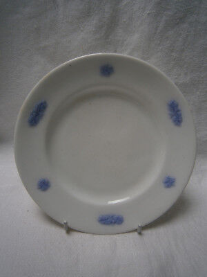 ANTIQUE c 1800's BLUE & WHITE EMBOSSED FLORAL DESIGN SIDE PLATE