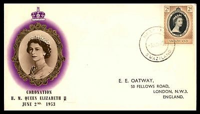 HM QUEEN ELIZABETH II CORONATION DAY 2d ISSUE JUN 2 1953 CACHET ON SEALED FDC