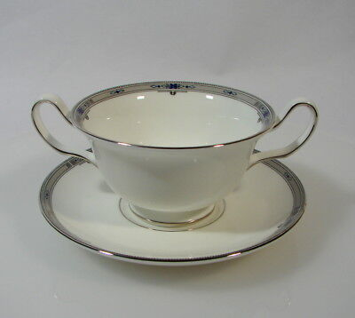 Wedgwood Amherst Suppentasse mit Untertasse Porzellan Bone China England
