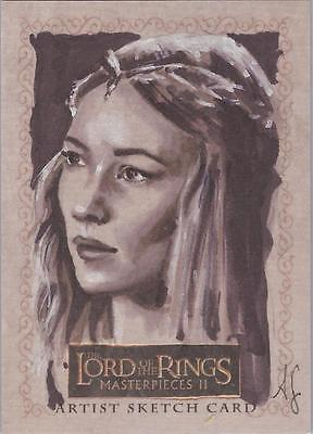 """Lord of the Rings Masterpieces II - Allison Sohn """"Galadriel"""" Sketch Card"""