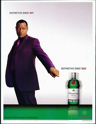 Print Ad~2003~Tanqueray Dry Gin~Laurence Fishburne~Matrix~Advertisement~H100