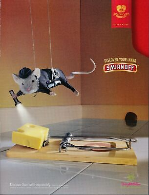 Print Ad~2003~Smirnoff Vodka~Mission Impossible Mouse Trap~Advertisement~H100