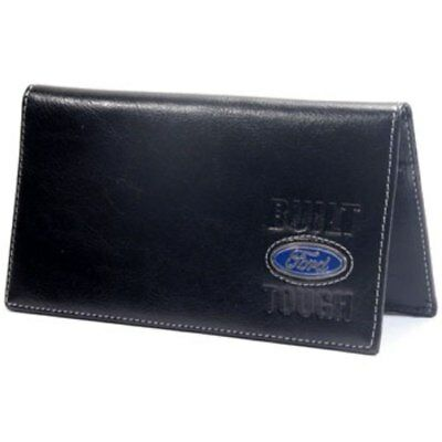 Built Ford Tough F150 Or Super Duty Leather Checkbook With Slots For Cards Etc.