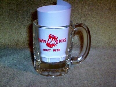 Twin Kiss Root Beer Miniature Glass Mug Hazel Atlas 4 Oz.