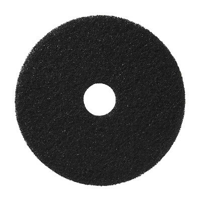 """Bright Solutions BSL20011 17"""" Black Floor Stripping Pads up to 350 RPM Case of 5"""