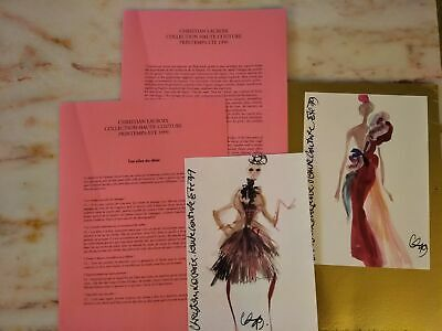 Christian Lacroix Haute-Couture Spring/Summer 1999 Collection Show Folder