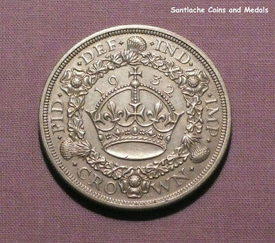 1932 King George V Silver Wreath Crown - Scarce Date Coin