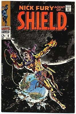 NICK FURY AGENT OF SHIELD #6 VF Jim Steranko c, S.H.I.E.L.D. Marvel Comics 1968
