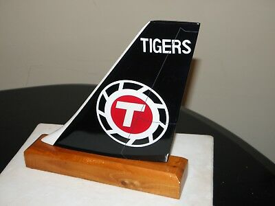 Flying Tigers Airlines Wood Desk Model Airplane Tail Federal Express Pilot Gift