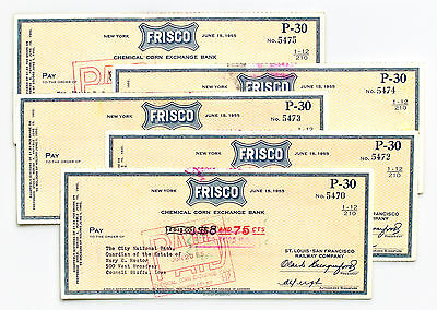 10 Frisco St. Louis - San Francisco 1955-1964 USA railroad checks nice used