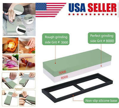 3000#8000 Grit Double-sided Sharpening Stone Waterstone Knife Sharpener Japanese