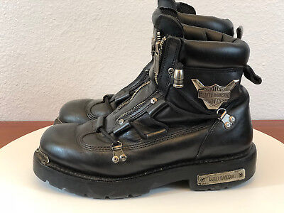 Harley Davidson Mens Black Leather Brake Light Boots Size 8