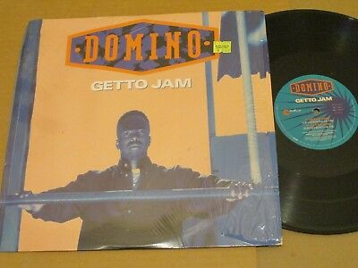 "Domino-Getto Jam~Original 4 cut 12""~VG++ Vinyl/VG++ Shrink Wrap Jacket!"
