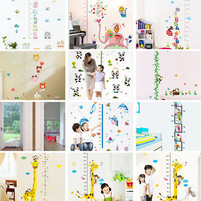 Children Height Growth Chart Measure Wall Sticker Baby Room Decor Animal Decal