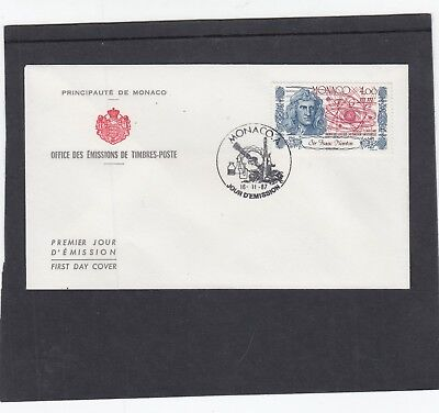 Monaco 1987 Sir Isaac Newton mathematician First Day Cover FDC