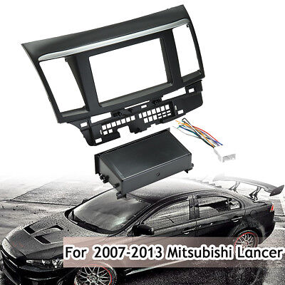 Stereo Single Double Din Dash Harness Mounting For 2007-2013 Mitsubishi Lancer