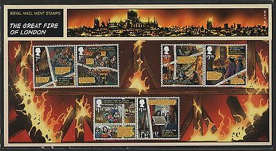 Gb 2016 Great Fire Of London Stamp Presentation Pack