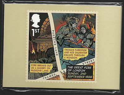 Gb 2016 Great Fire Of London Phq Stamp Cards Mint