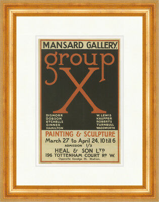 Group X E. McKnight Kauffer 1920 Painting Wadsworth Kunstdruck Plakatwelt 895