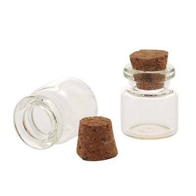 Glass Bottle With Cork 25x22mm (2)