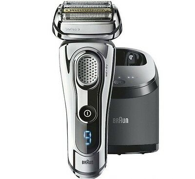 BRAUN Series 9 9295 cc System Clean & Charge Display Farbe Chrom Rasierer System