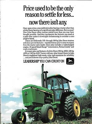 Old John Deere 4250 Tractor Ad Price uSed To Be The Only