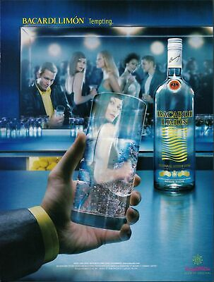 Print Ad~2002~Bacardi Limon~Girl Reflected in Glass~Advertisement~H300