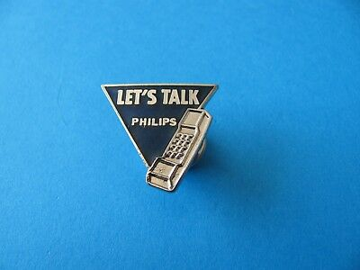 Vintage Philips PHONE Pin BADGE,